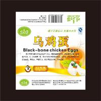 土鸡蛋不干胶标签